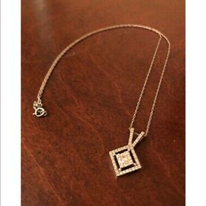 Jewelry - 14k White Gold Diamond Pendant Necklace